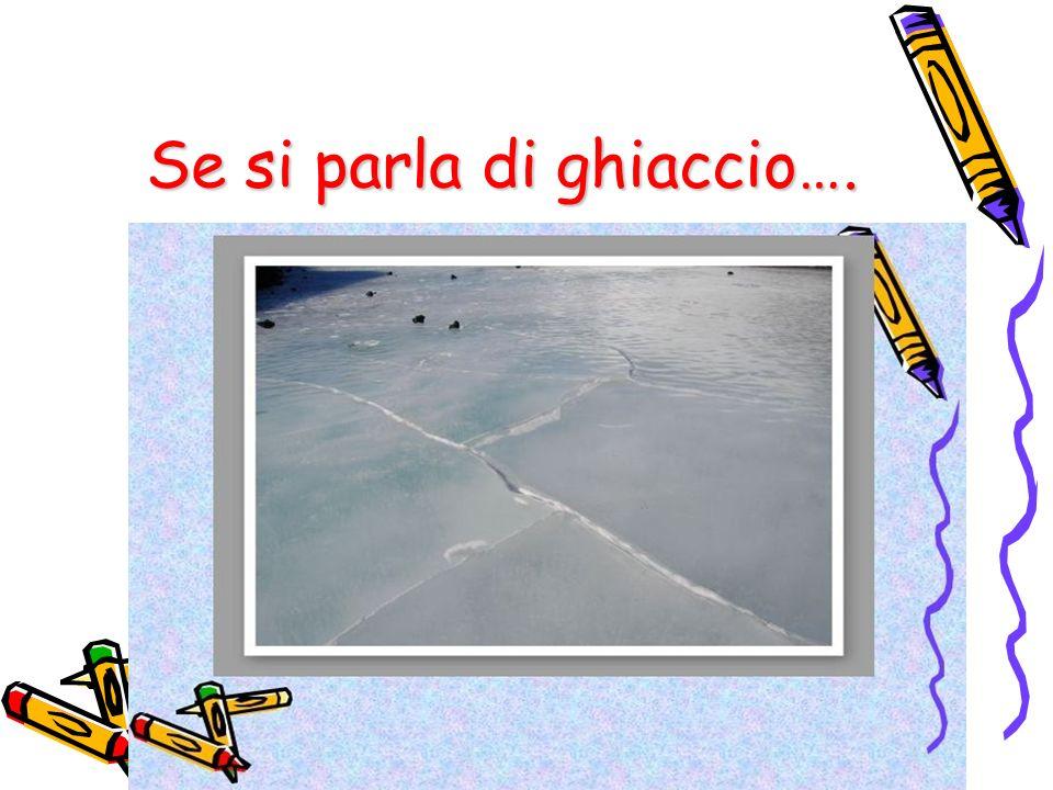 Se si parla di ghiaccio….
