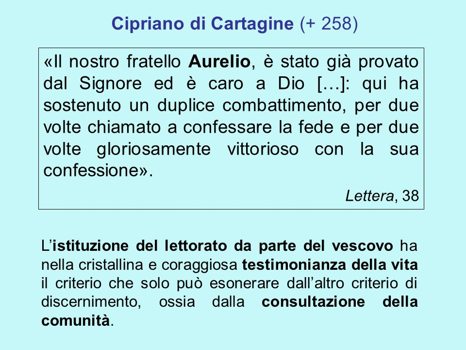 Cipriano di Cartagine (+ 258)