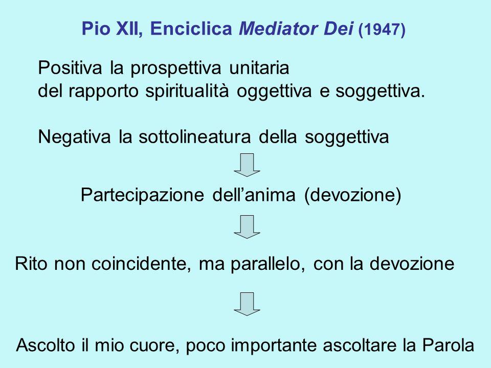 Pio XII, Enciclica Mediator Dei (1947)