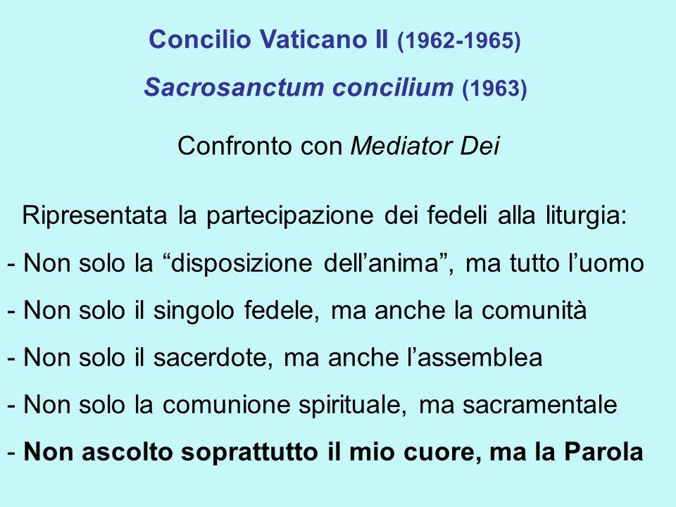 Concilio Vaticano II (1962-1965) Sacrosanctum concilium (1963)