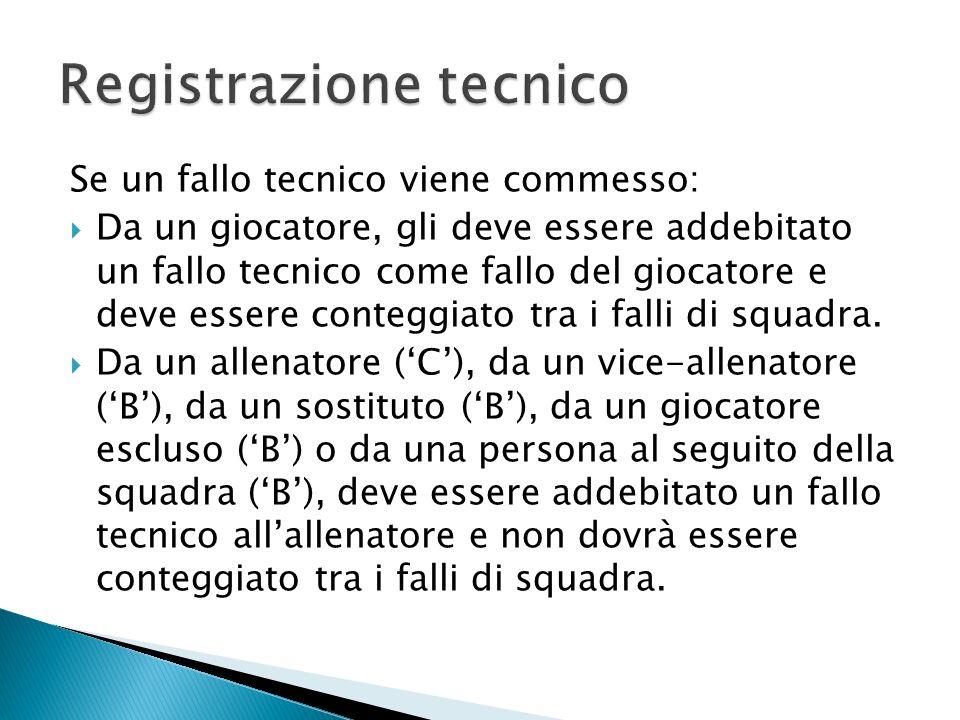 Registrazione tecnico