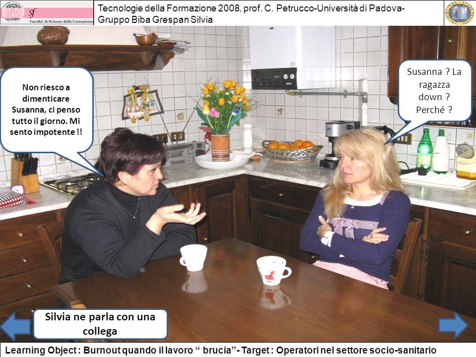 Silvia ne parla con una collega