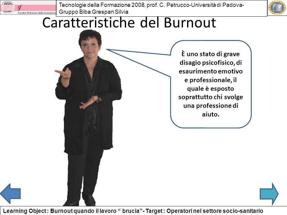Caratteristiche del Burnout