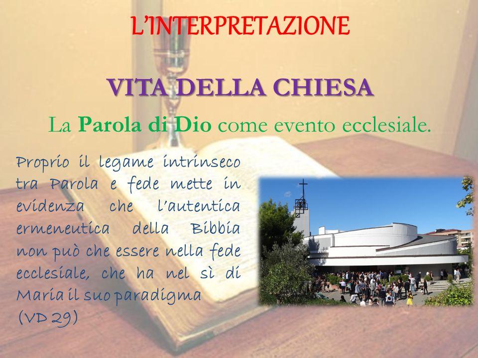 La Parola di Dio come evento ecclesiale.