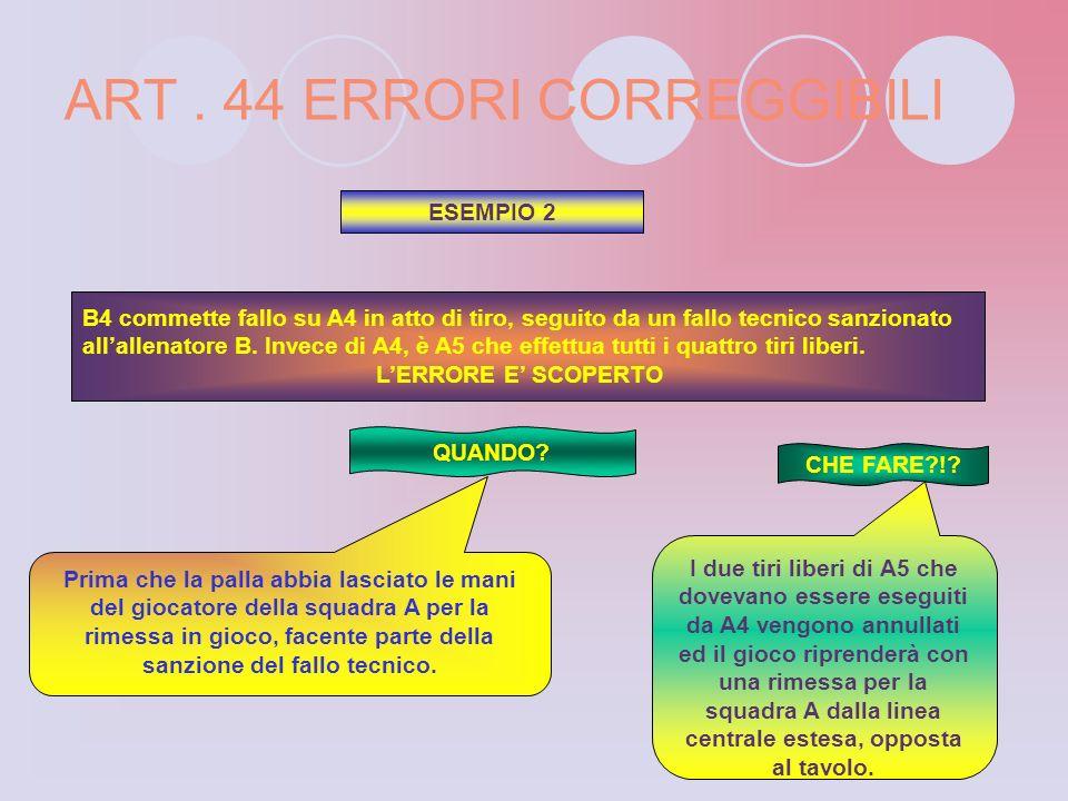 ART . 44 ERRORI CORREGGIBILI
