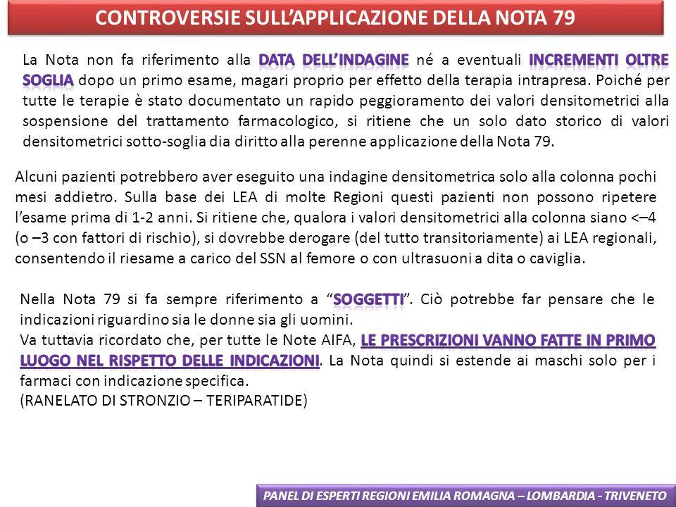 CONTROVERSIE SULL'APPLICAZIONE DELLA NOTA 79