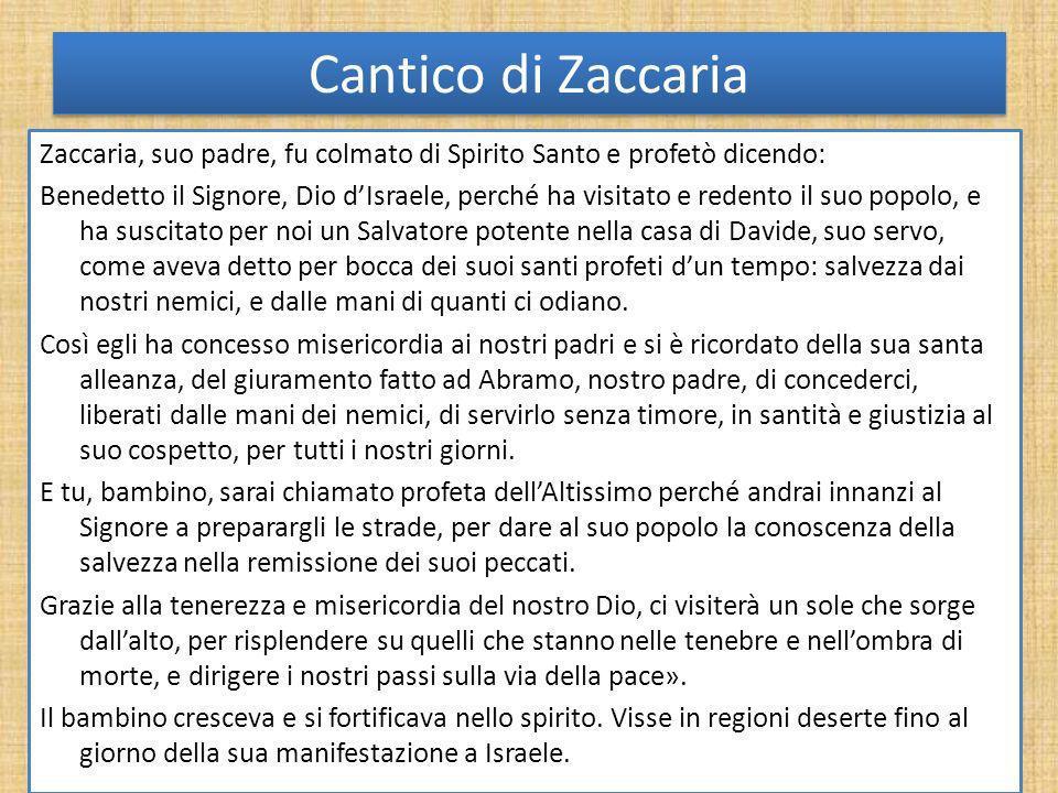 Cantico di Zaccaria