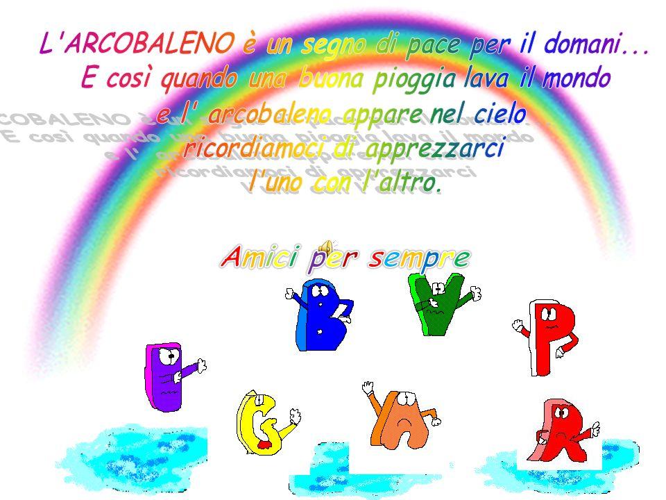 Amici per sempre L ARCOBALENO è un segno di pace per il domani...