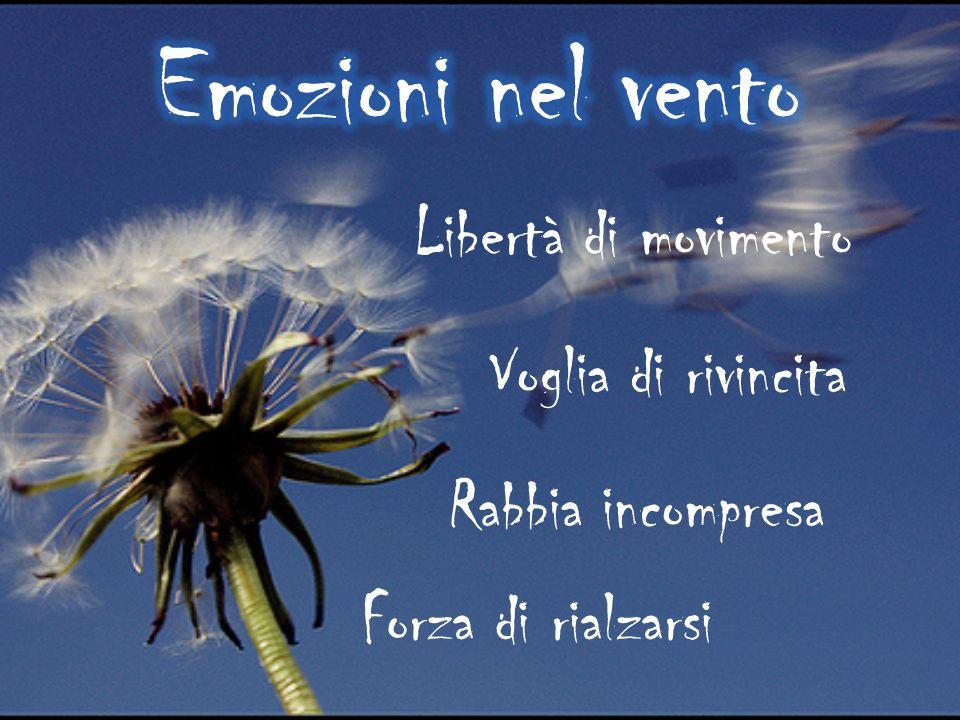 Emozioni nel vento Libertà di movimento Voglia di rivincita