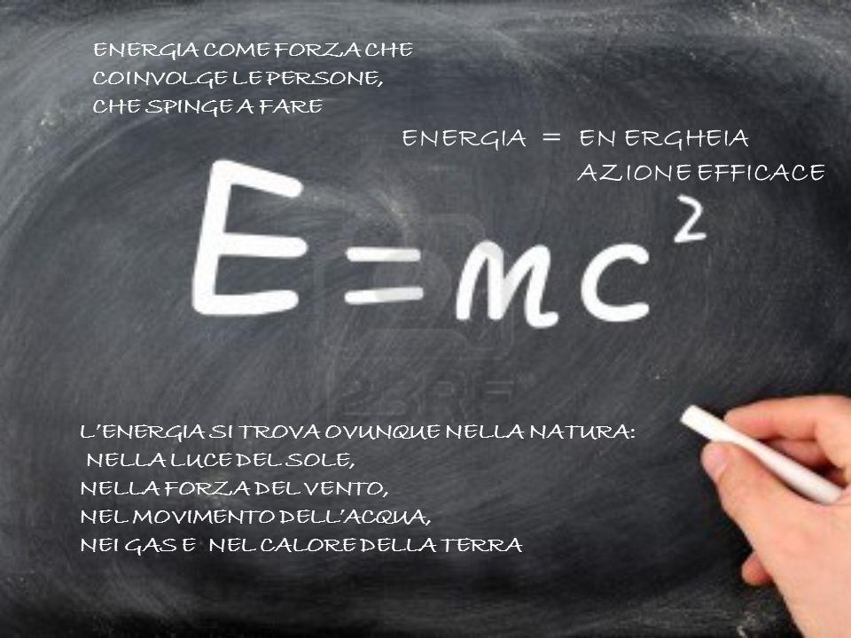 ENERGIA = EN ERGHEIA AZIONE EFFICACE