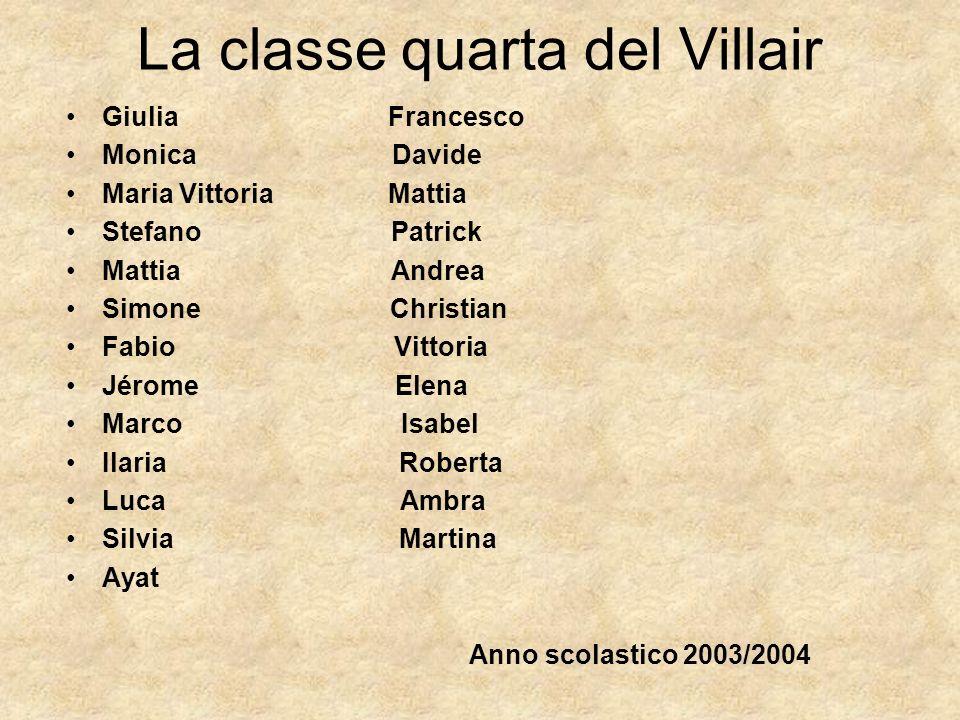 La classe quarta del Villair