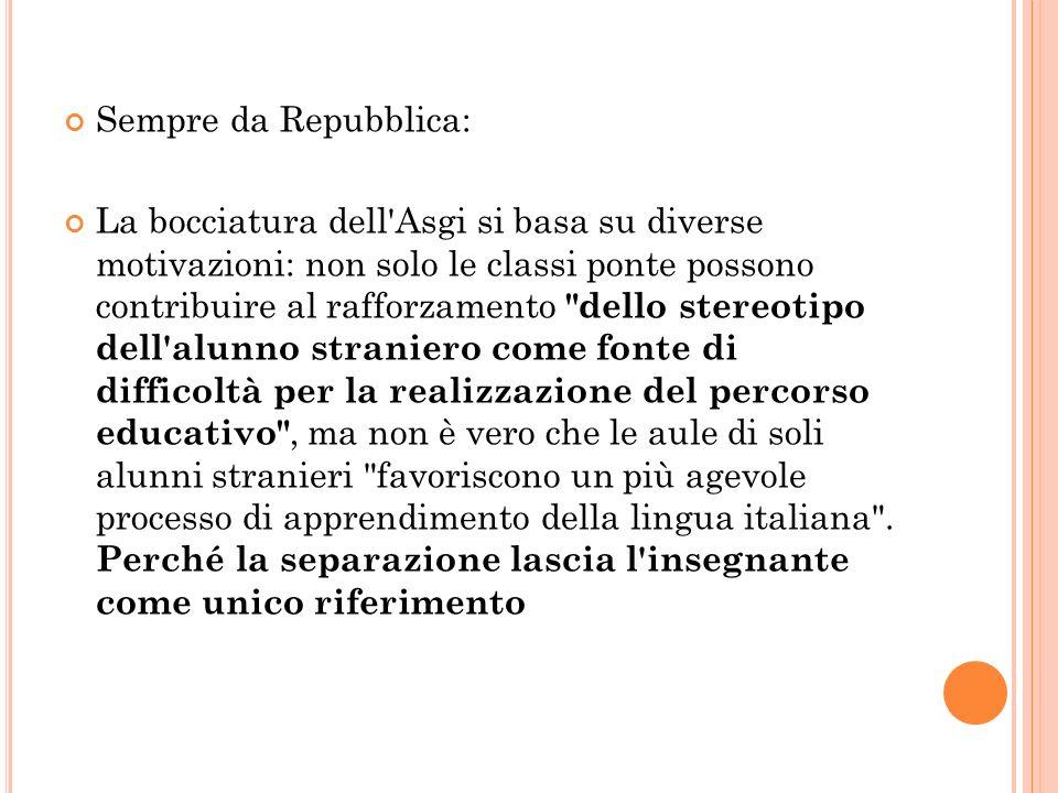 Sempre da Repubblica: