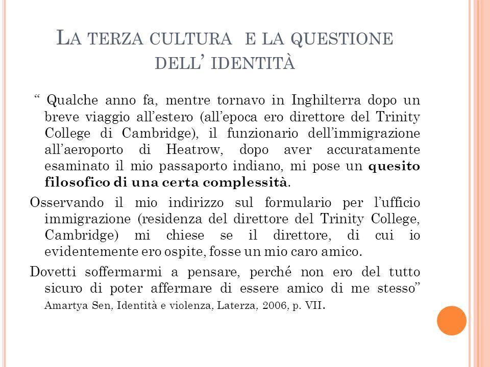 La terza cultura e la questione dell' identitÀ