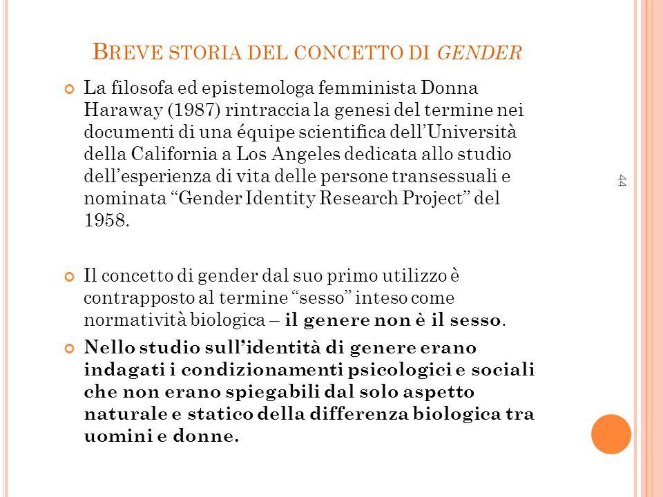 Breve storia del concetto di gender