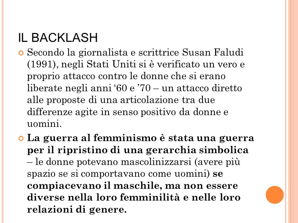 IL BACKLASH