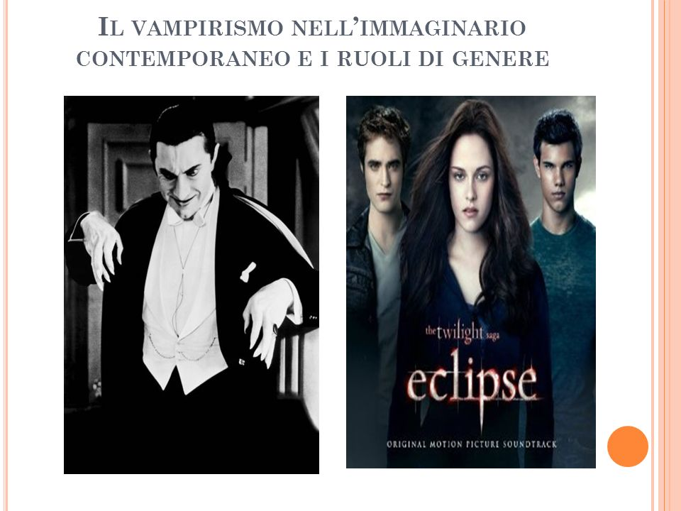 Il vampirismo nell'immaginario contemporaneo e i ruoli di genere