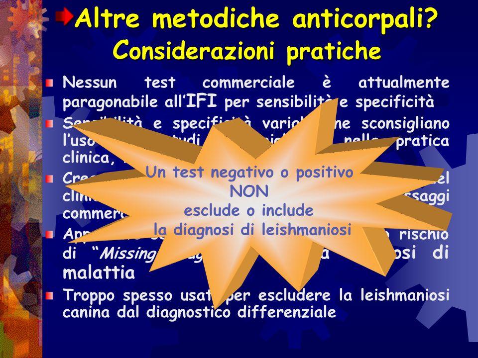 Altre metodiche anticorpali Considerazioni pratiche