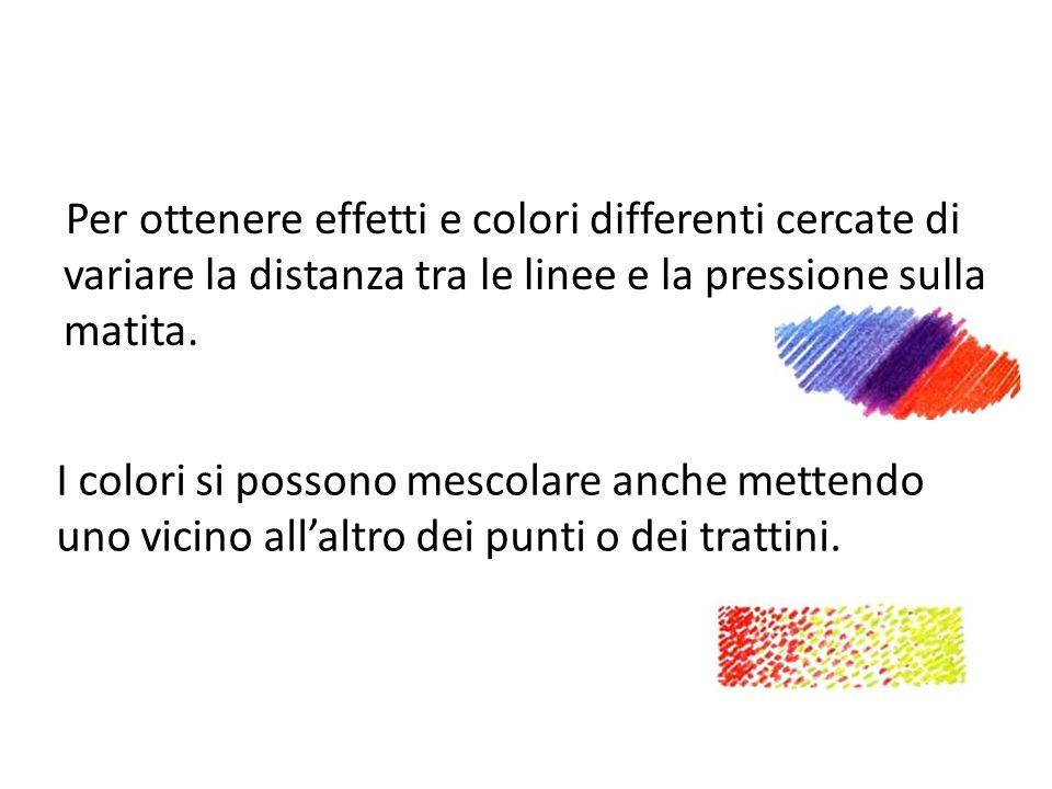 Per ottenere effetti e colori differenti cercate di variare la distanza tra le linee e la pressione sulla matita.