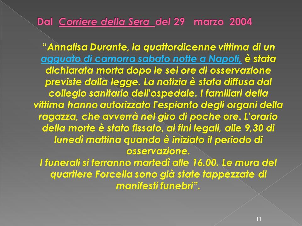 Dal Corriere della Sera del 29 marzo 2004