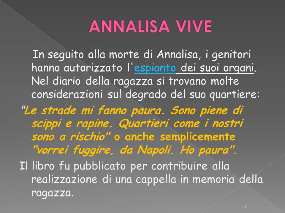 ANNALISA VIVE