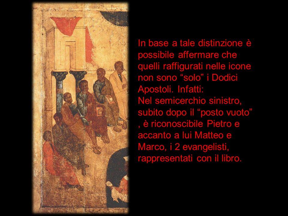 In base a tale distinzione è possibile affermare che quelli raffigurati nelle icone non sono solo i Dodici Apostoli. Infatti: