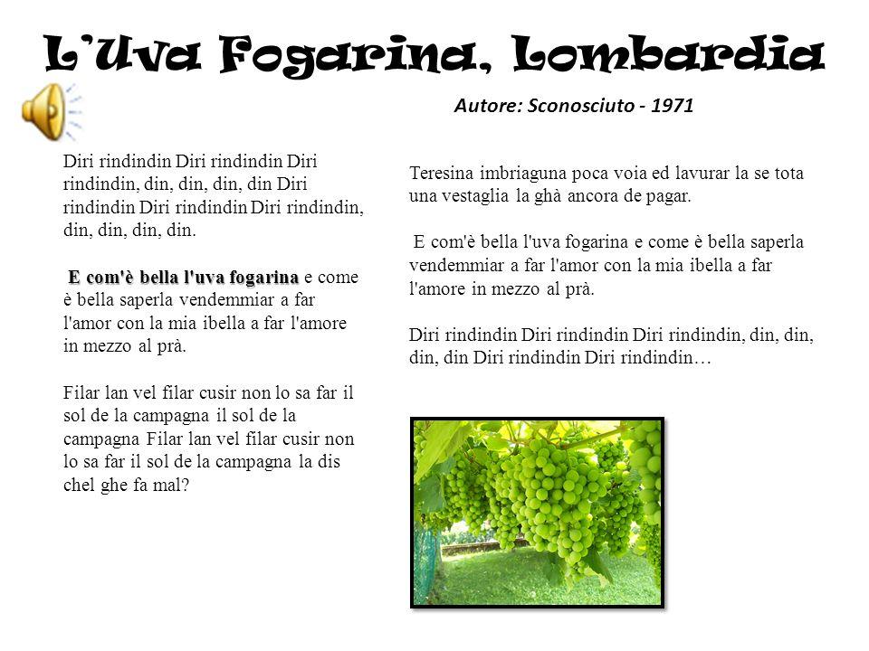 L'Uva Fogarina, Lombardia
