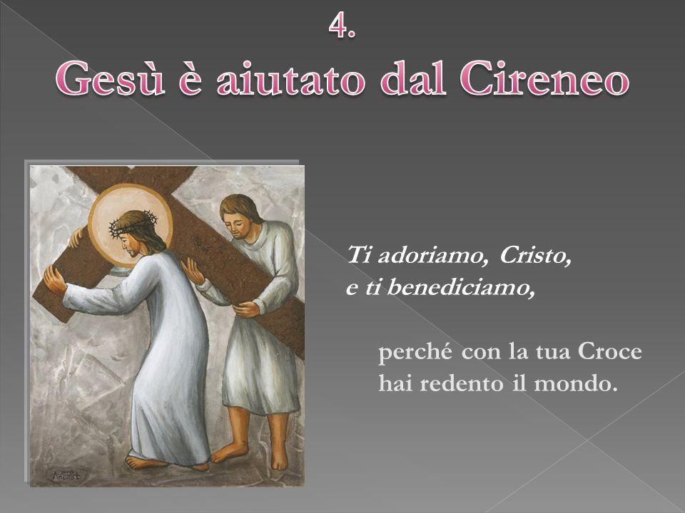 Gesù è aiutato dal Cireneo