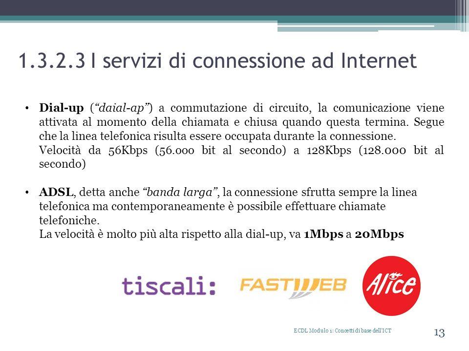 1.3.2.3 I servizi di connessione ad Internet