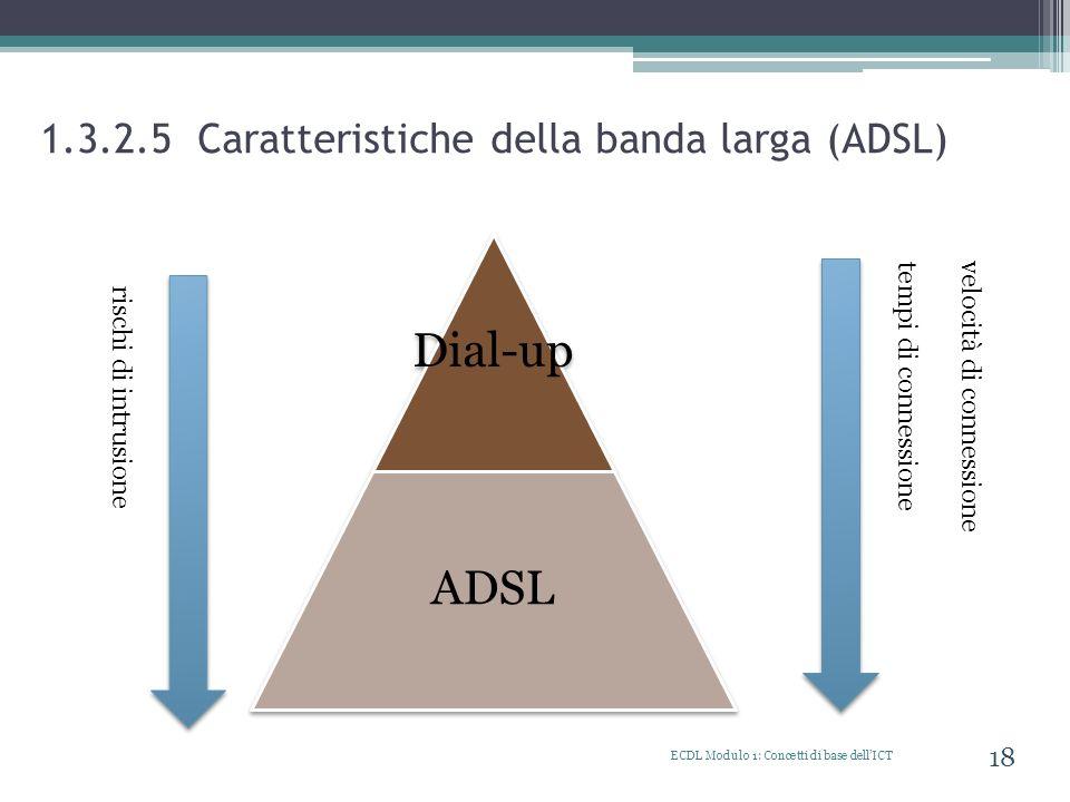 1.3.2.5 Caratteristiche della banda larga (ADSL)