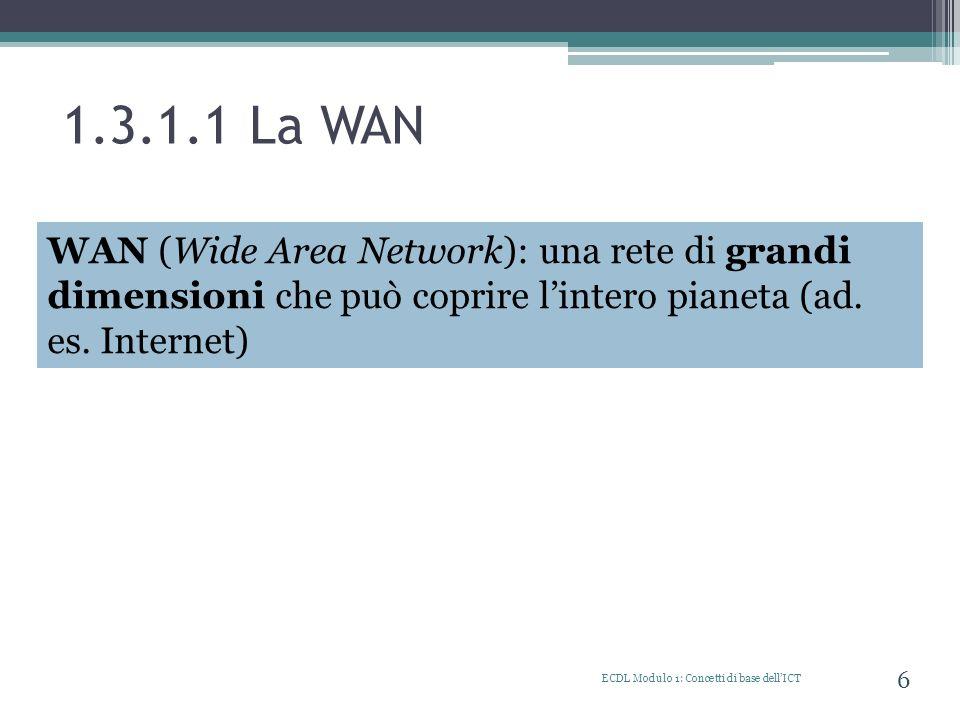 1.3.1.1 La WAN WAN (Wide Area Network)