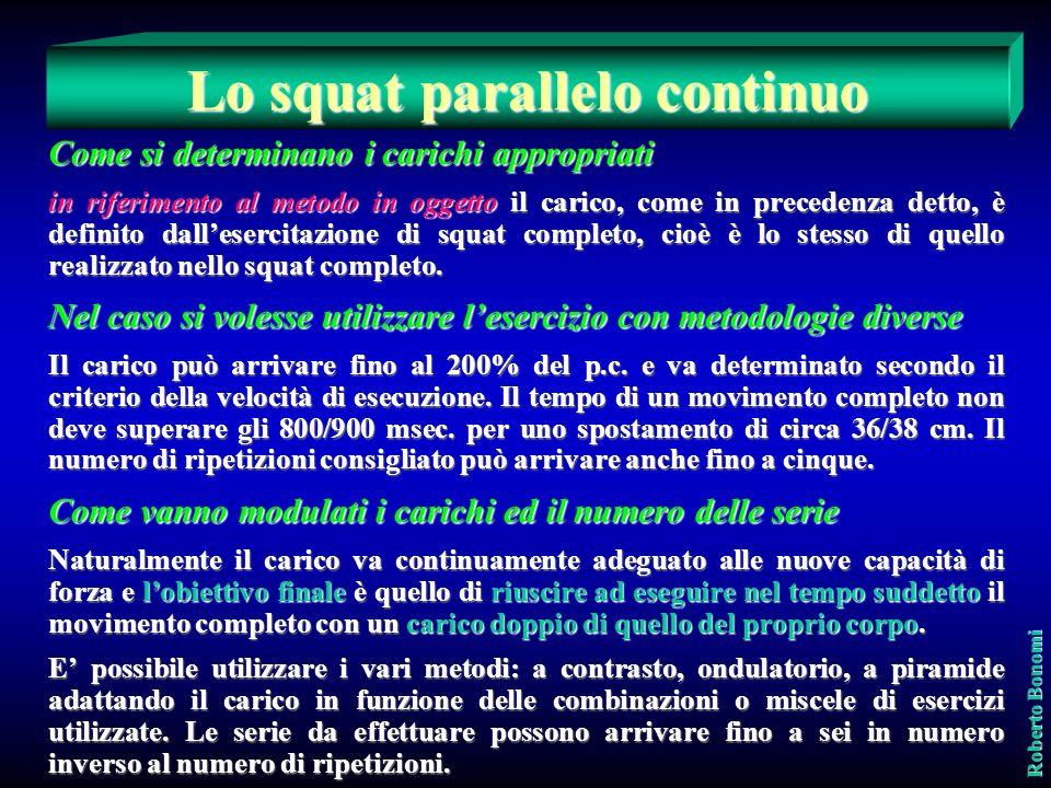 Lo squat parallelo continuo