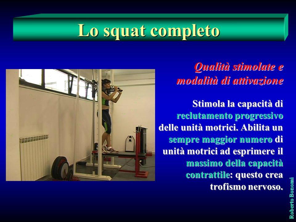 Lo squat completo Qualità stimolate e modalità di attivazione