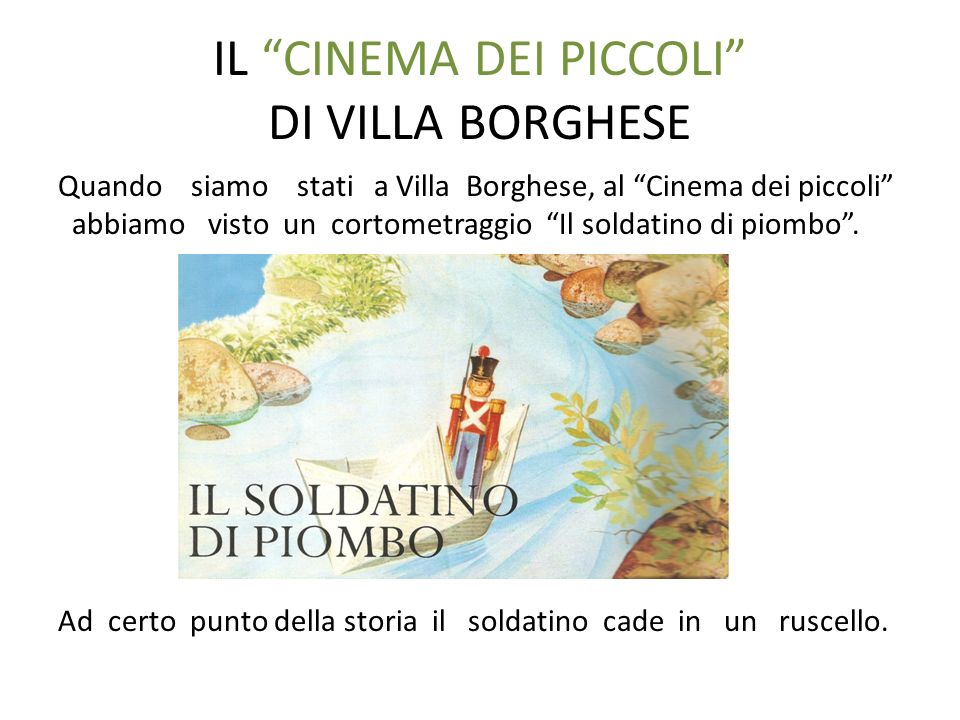 IL CINEMA DEI PICCOLI DI VILLA BORGHESE