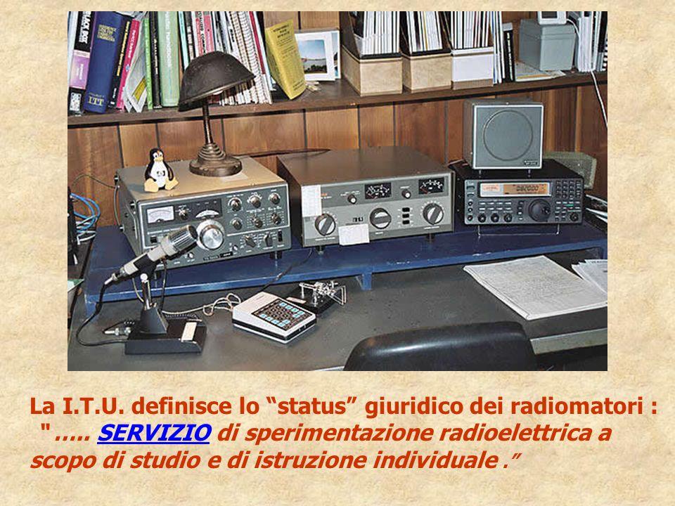 La I.T.U. definisce lo status giuridico dei radiomatori :