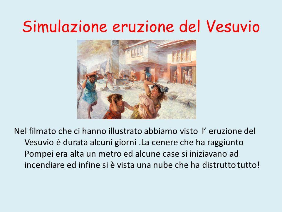Simulazione eruzione del Vesuvio