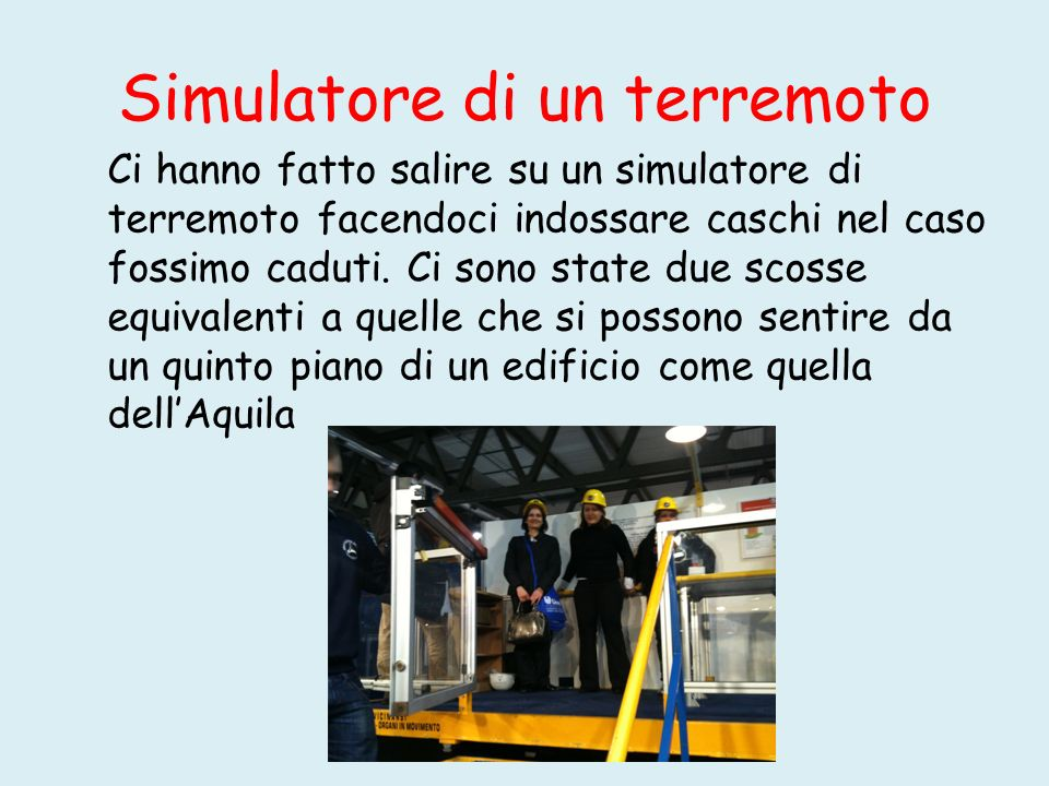 Simulatore di un terremoto