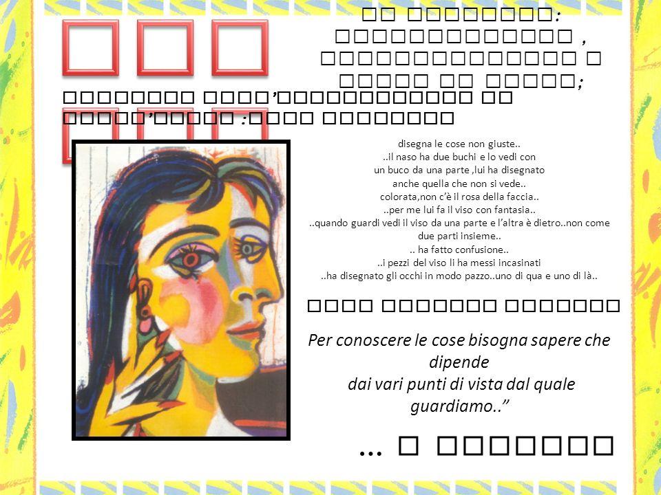 Picasso il ritratto: scomposizione , ricomposizione e punti di vista; Partiamo dall'osservazione di quest'opera :cosa vediamo