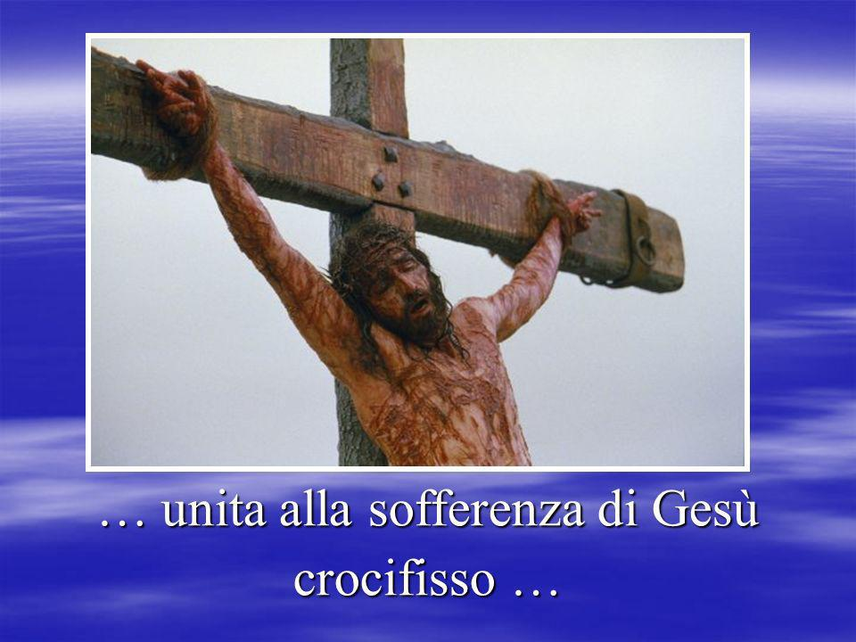 … unita alla sofferenza di Gesù crocifisso …