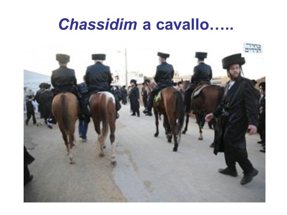 Chassidim a cavallo…..