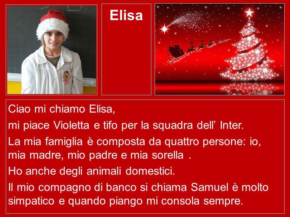Elisa Ciao mi chiamo Elisa,