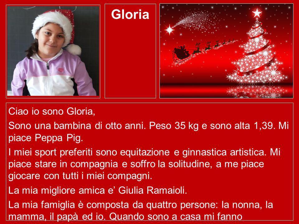 Gloria Ciao io sono Gloria,