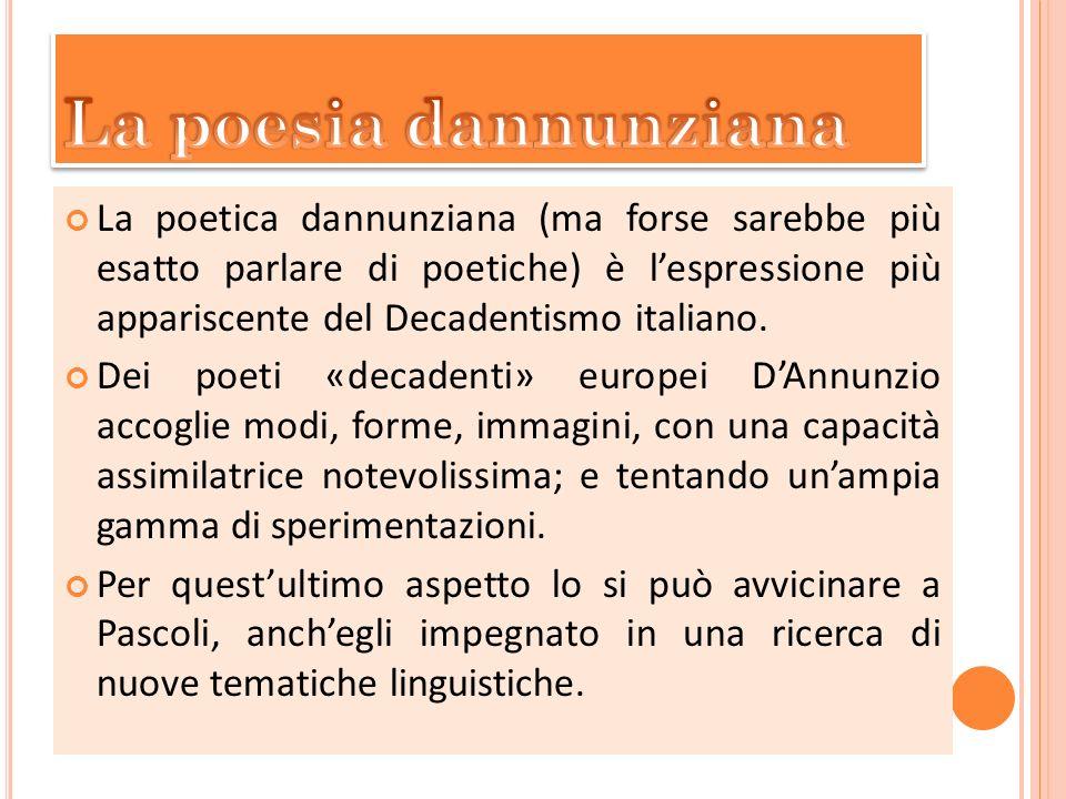 La poesia dannunziana