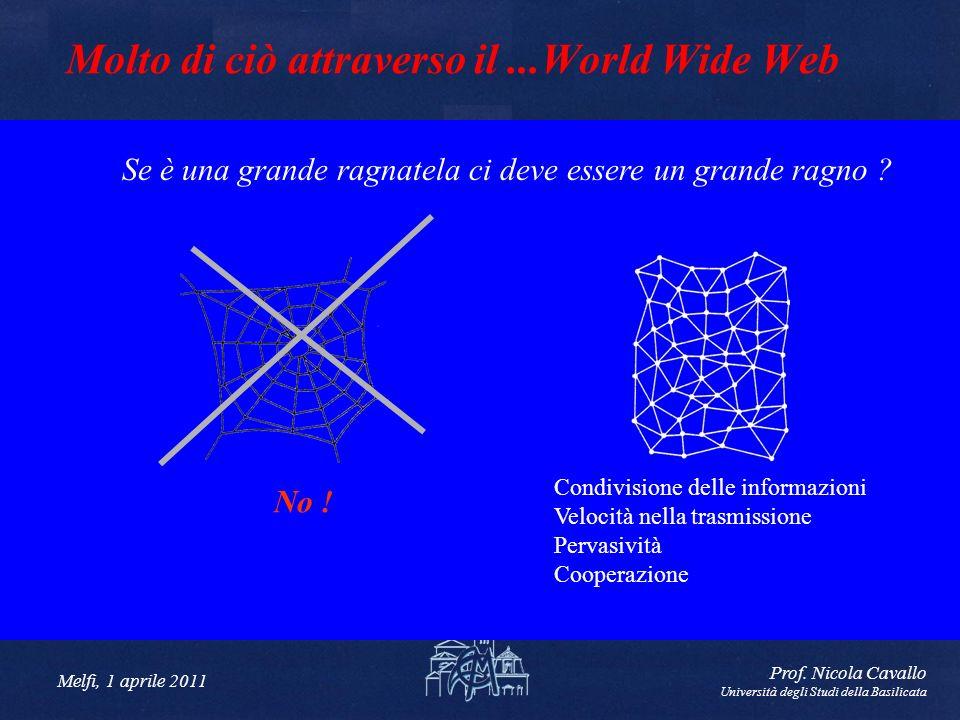 Molto di ciò attraverso il ...World Wide Web