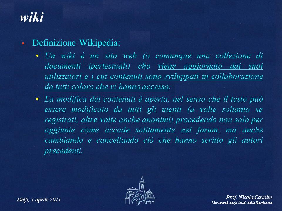 wiki Definizione Wikipedia:
