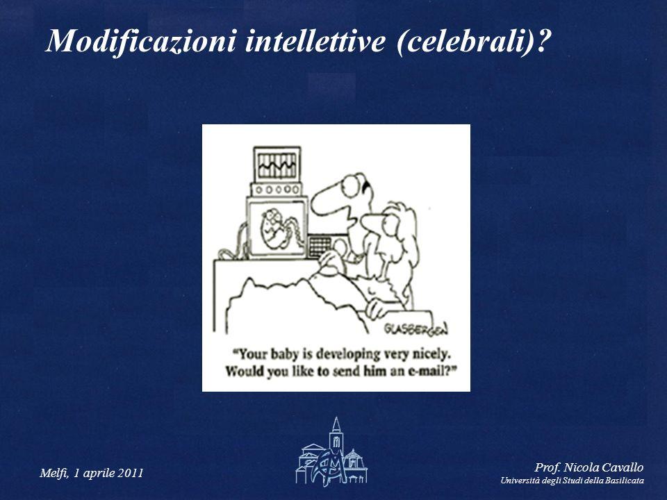 Modificazioni intellettive (celebrali)