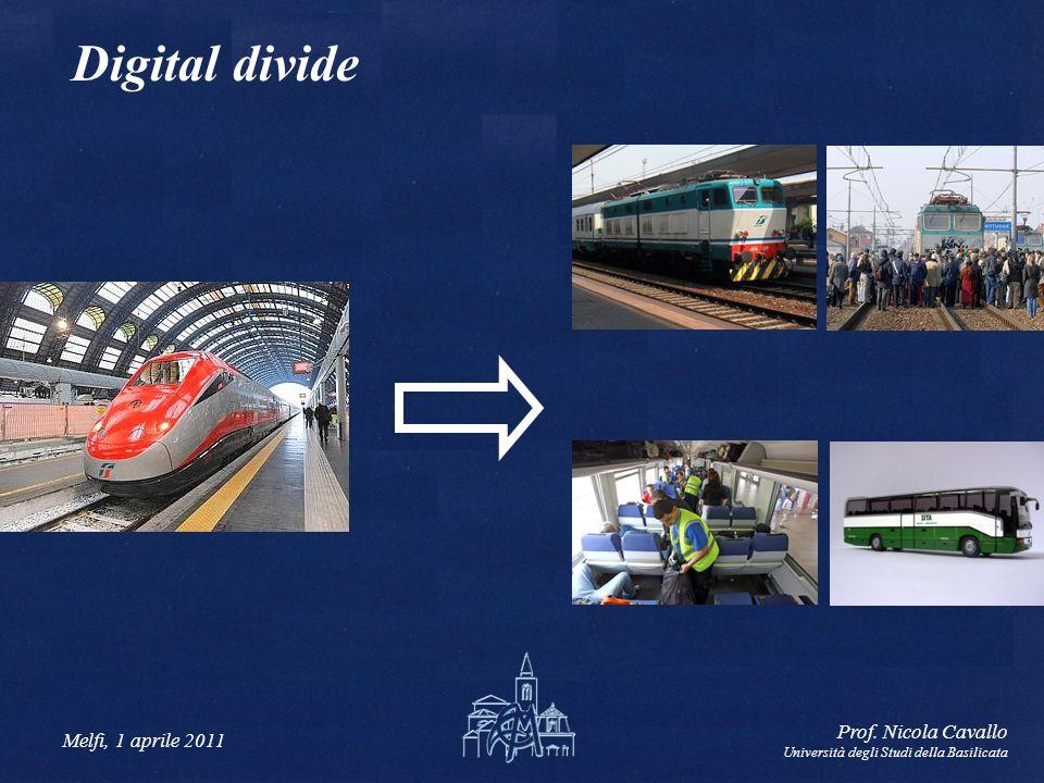 Digital divide Prof. Nicola Cavallo Melfi, 1 aprile 2011