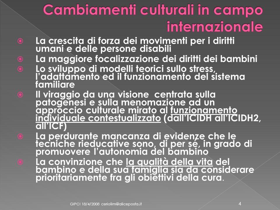 Cambiamenti culturali in campo internazionale