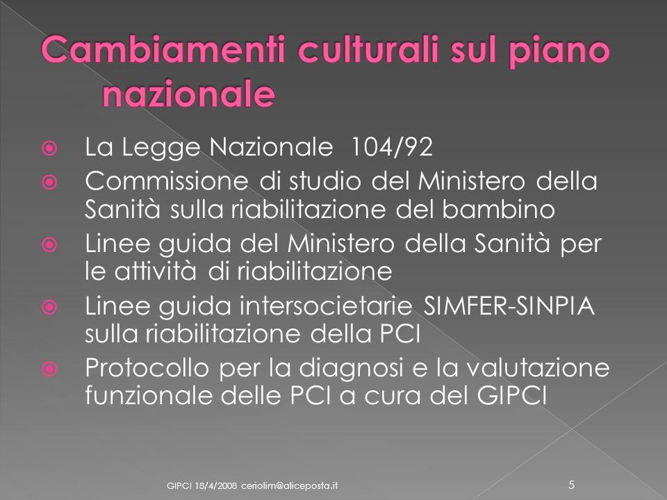 Cambiamenti culturali sul piano nazionale