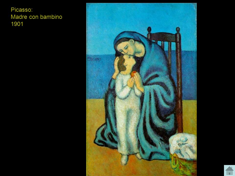 Picasso: Madre con bambino 1901