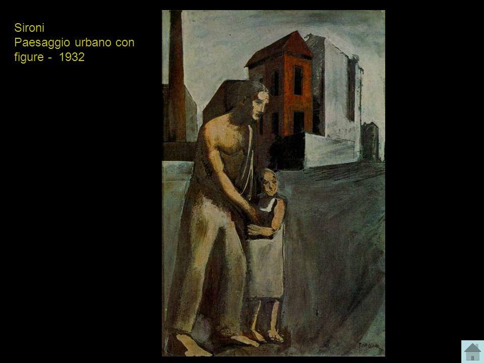 Sironi Paesaggio urbano con figure - 1932